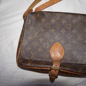 Vintage Louis Vuitton Crossbody Satchel Bag